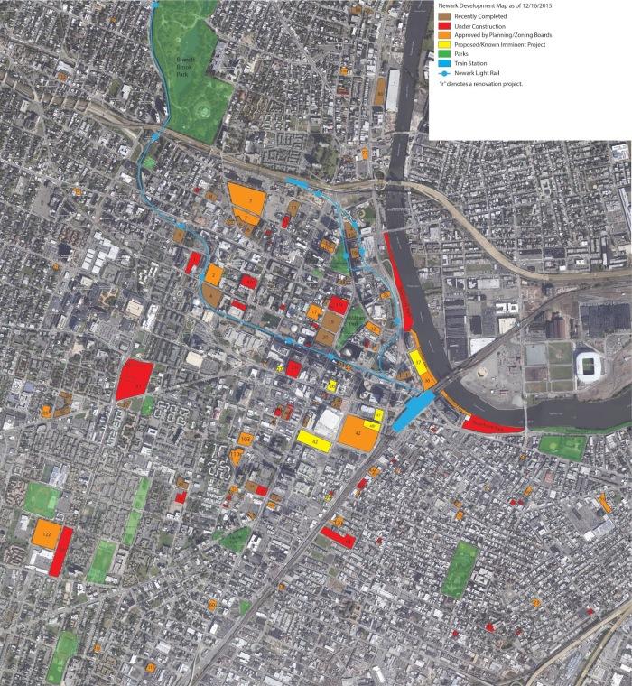 Newark Development Map 12 16 2015